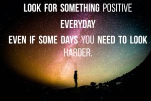 Find something positive